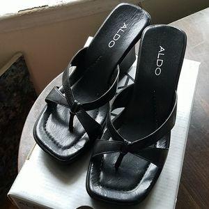 Aldo sandal size 7 black